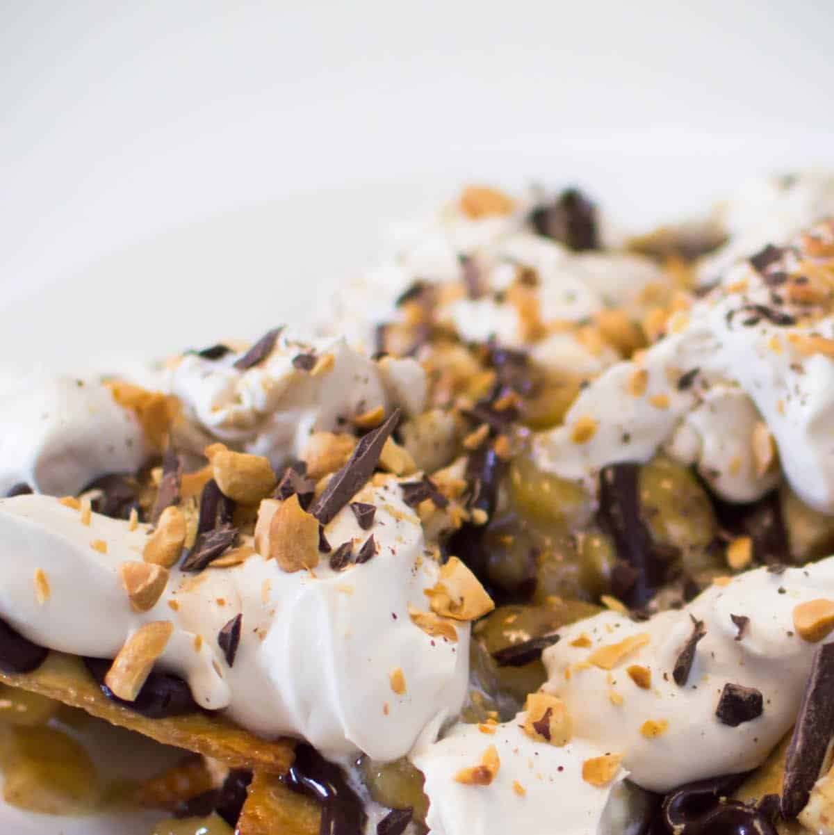 Ultimate Gooey Chocolate Banana Nachos