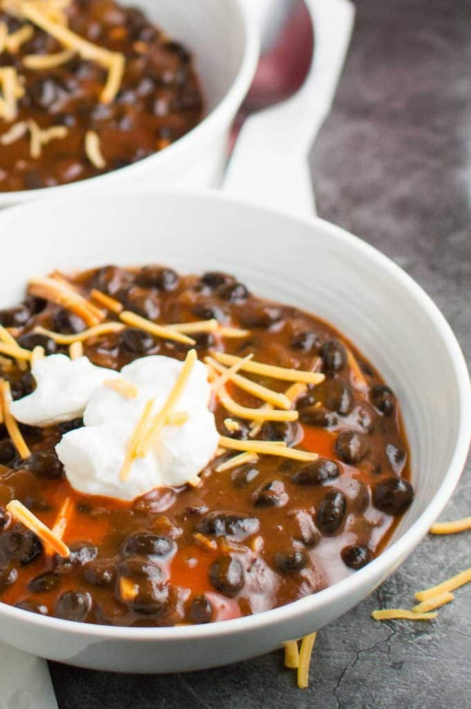 Smoky Black Bean Soup Close Up