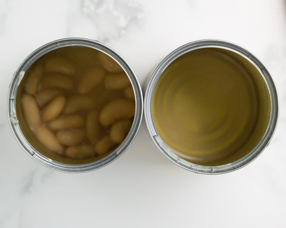 Two Cans of Beans Side By Side