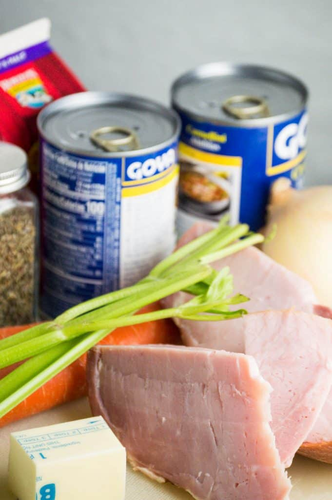 Ham and White Bean Chowder Ingredients