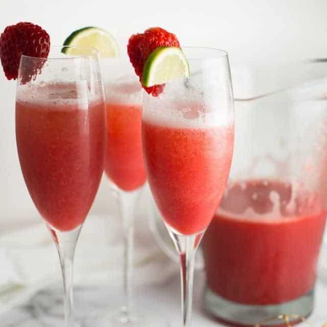 Strawberry Honey Lime Mimosas Thumbnail