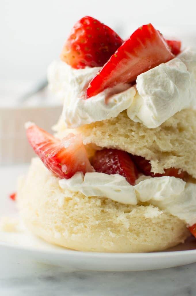 Strawberry Shortcake Mug Cake Close Up