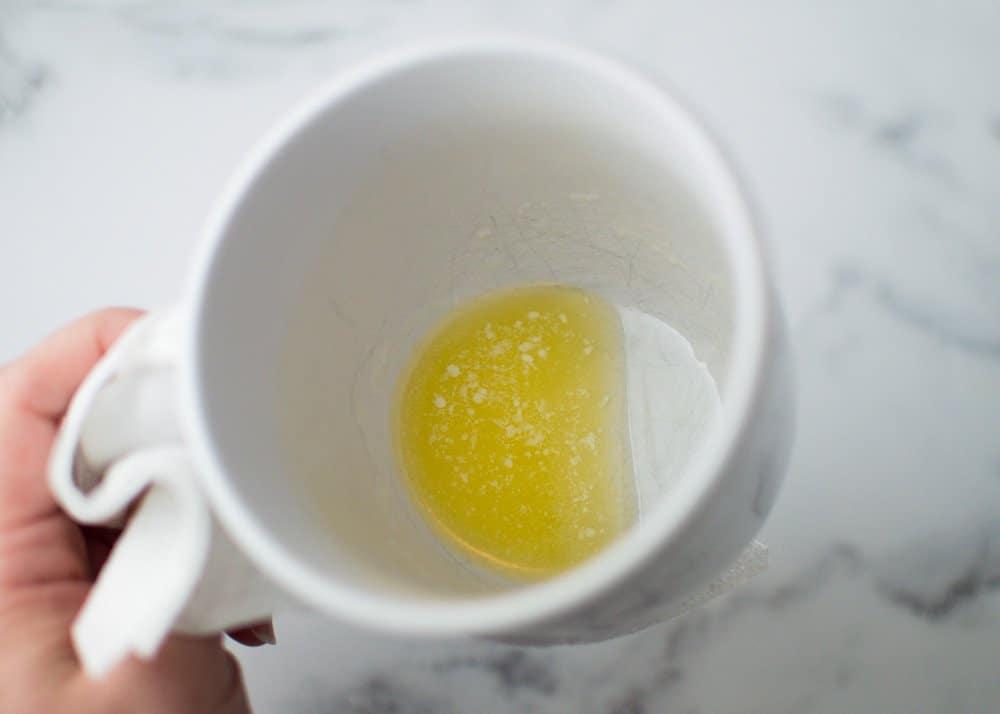 Swirling Melted Butter in Mug