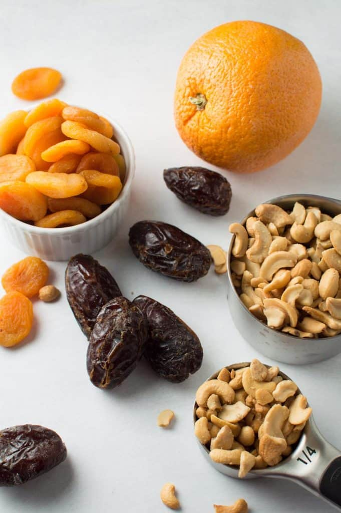 Apricot Orange Energy Balls Ingredients