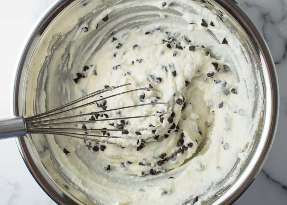 Cannoli Filling with Chocolate Chips Added