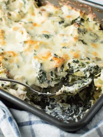 Creamy Spinach Artichoke Chicken Casserole Thumbnail