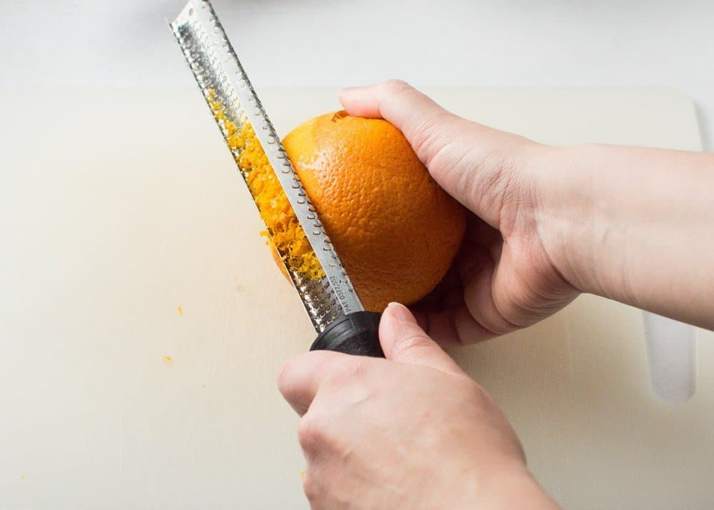 Grating Orange Zest with Microplane
