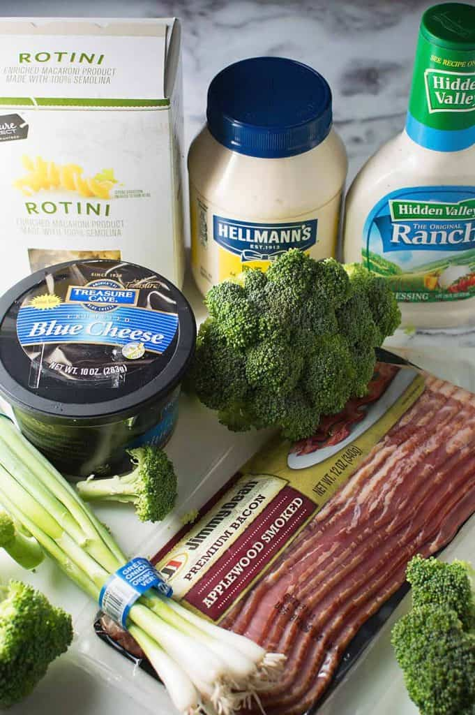 Bacon Blue Cheese Pasta Salad Ingredients