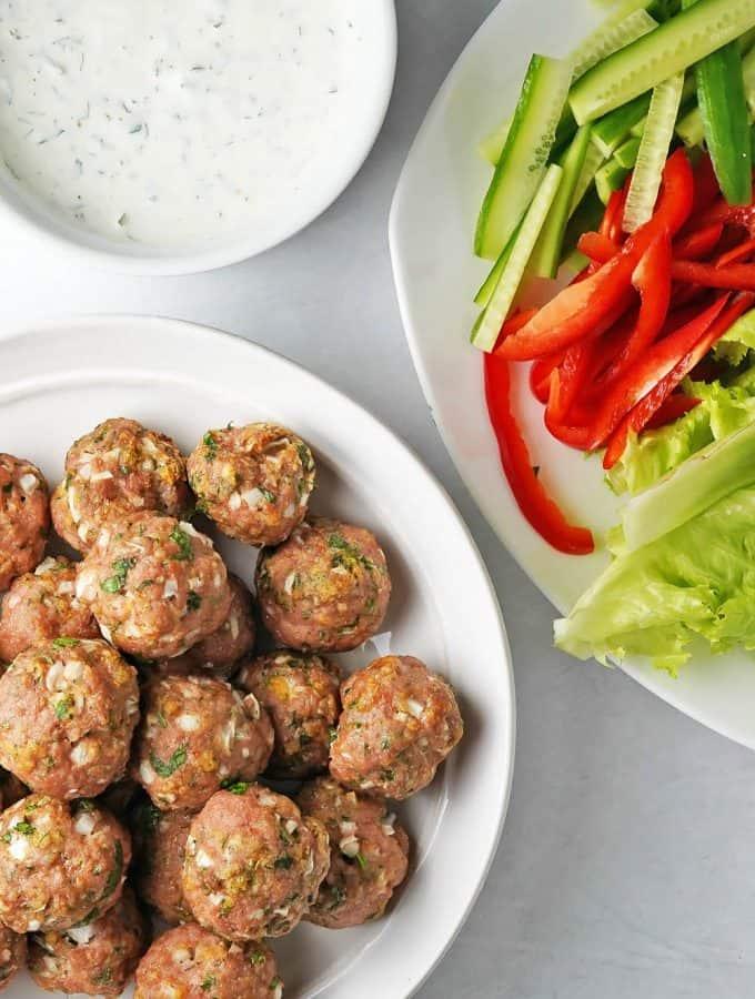 Garlic Herb Baked Turkey Meatballs