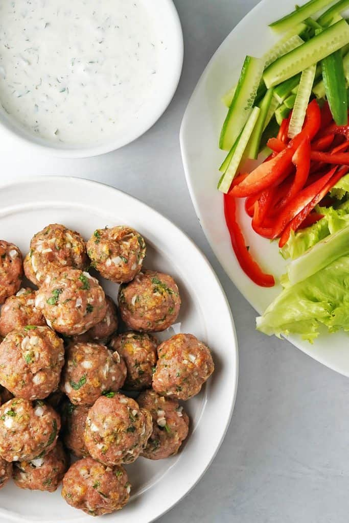Garlic Herb Baked Turkey Meatballs