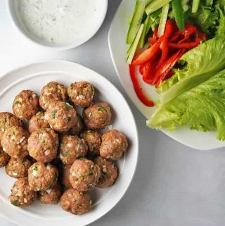 Garlic Herb Baked Turkey Meatballs Thumbnail