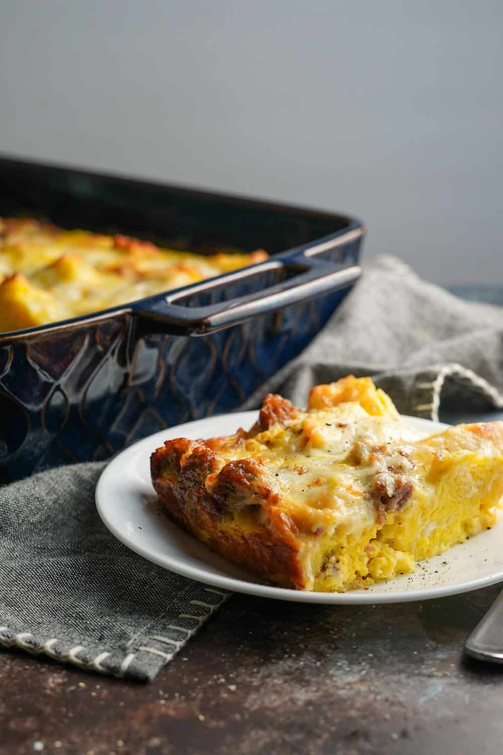 Italian Breakfast Casserole on a Plate