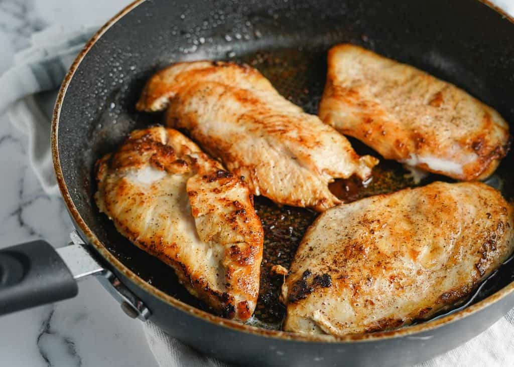 Chicken Breasts Cooked in Butter