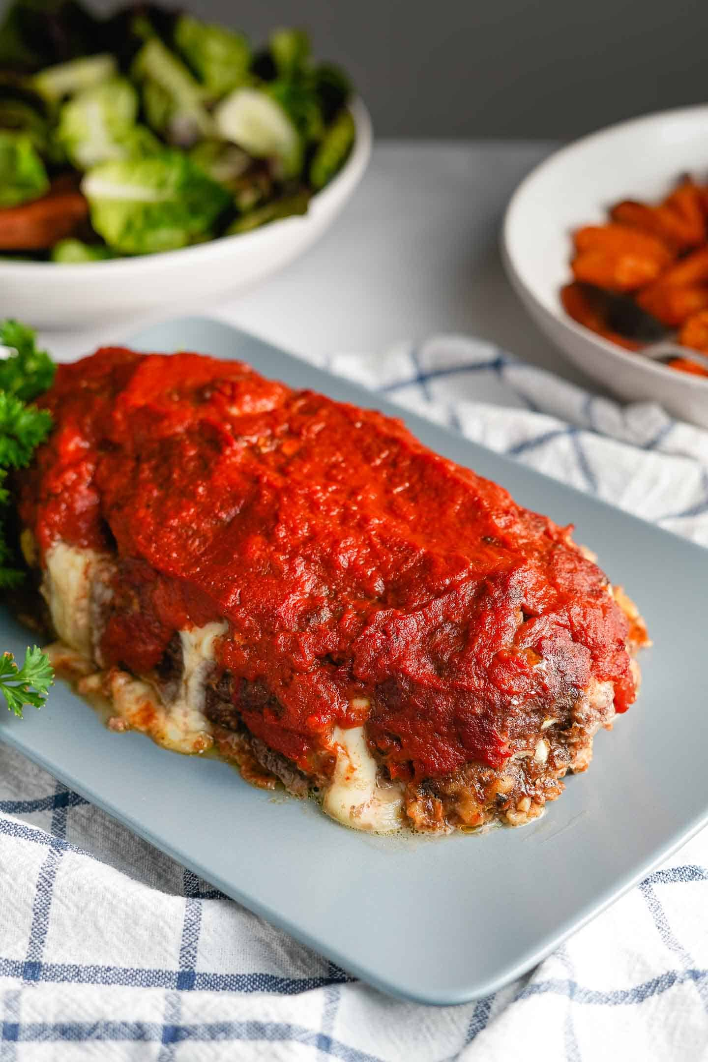 Italian Meatloaf Ready to Serve