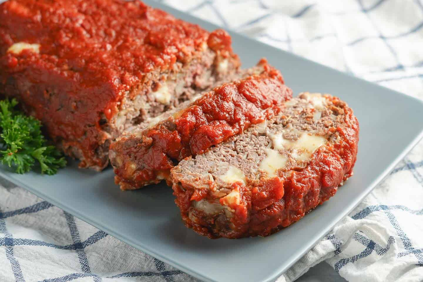 Italian Meatloaf on Platter