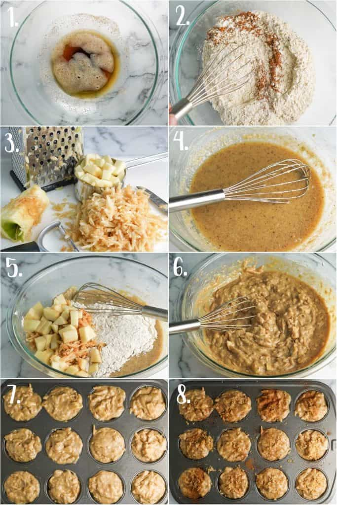 Step by Step Photos for Making Brown Butter Apple Muffins