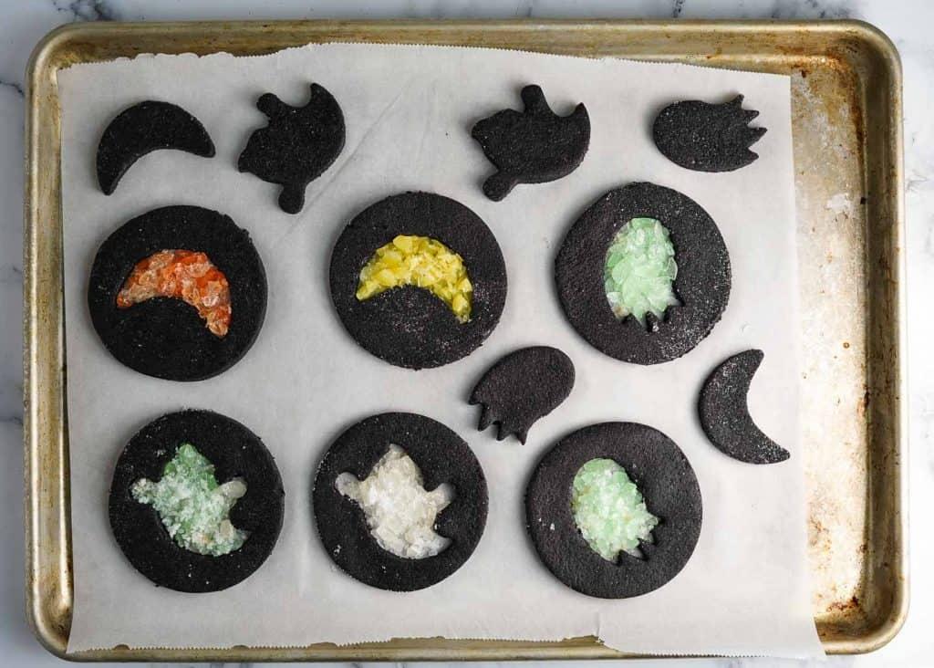 Halloween Windowpane Cookies Before Baking