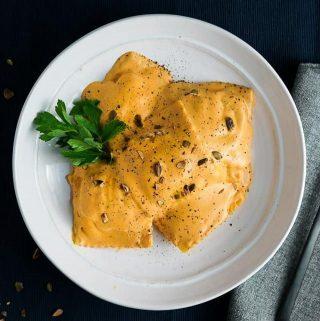Ravioli with Pumpkin Cream Sauce Thumbnail