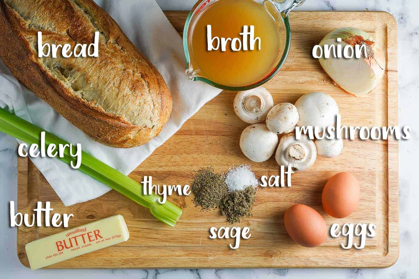 Crock Pot Stuffing Ingredients