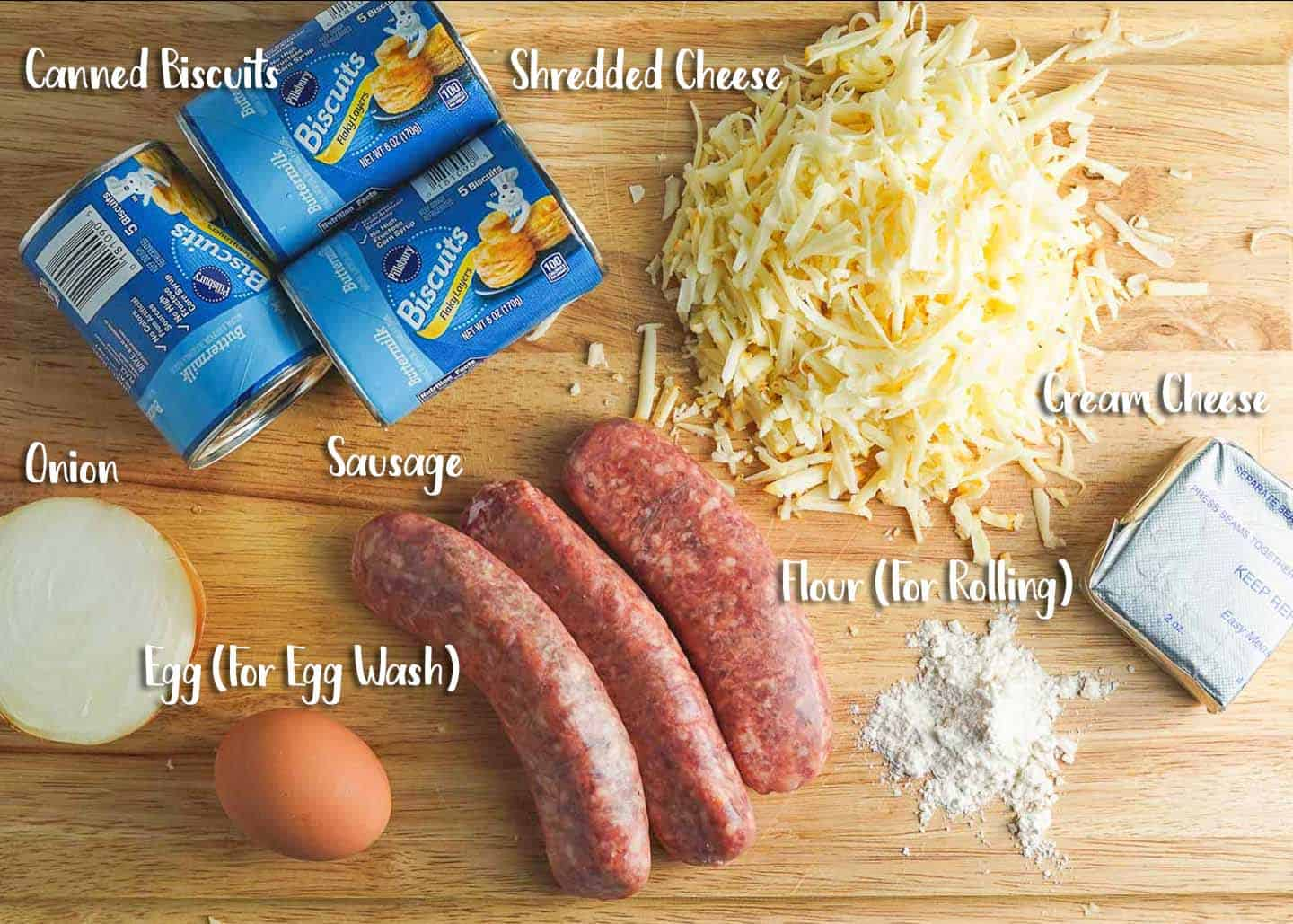 Sausage and Cheese Turnovers Ingredients