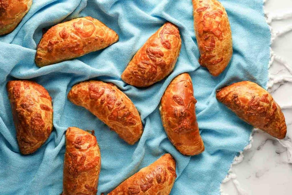 Sausage and Cheese Turnovers on Cloth