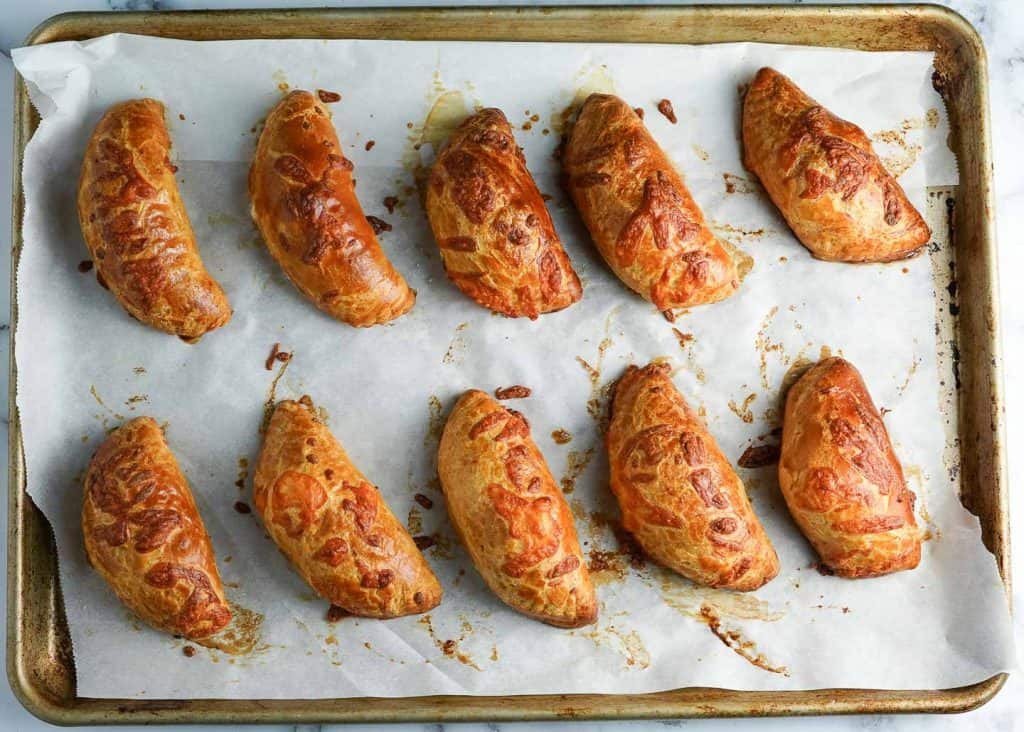 Sausage and Cheese Turnovers out of the Oven