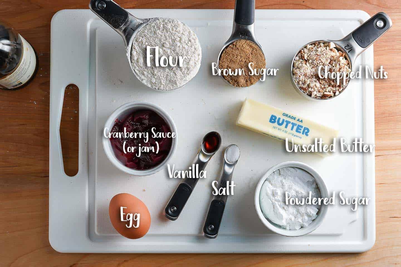 Thumbprint Cookies Ingredients