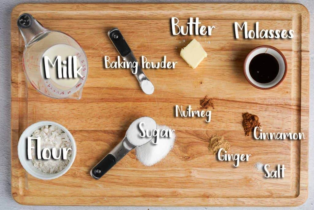 Gingerbread Mug Cake Ingredients