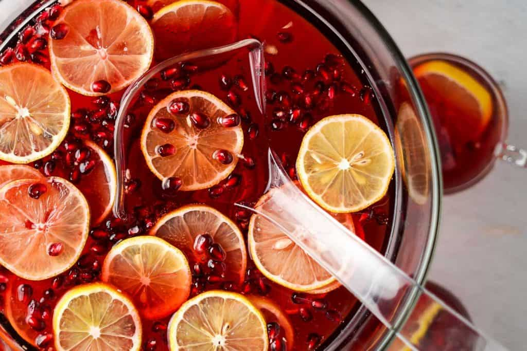 Pomegranate Cranberry Punch Close Up