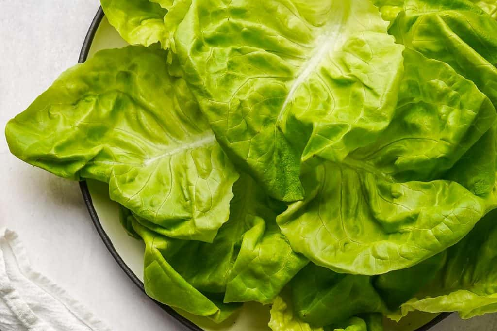 Butterhead Lettuce on Plate