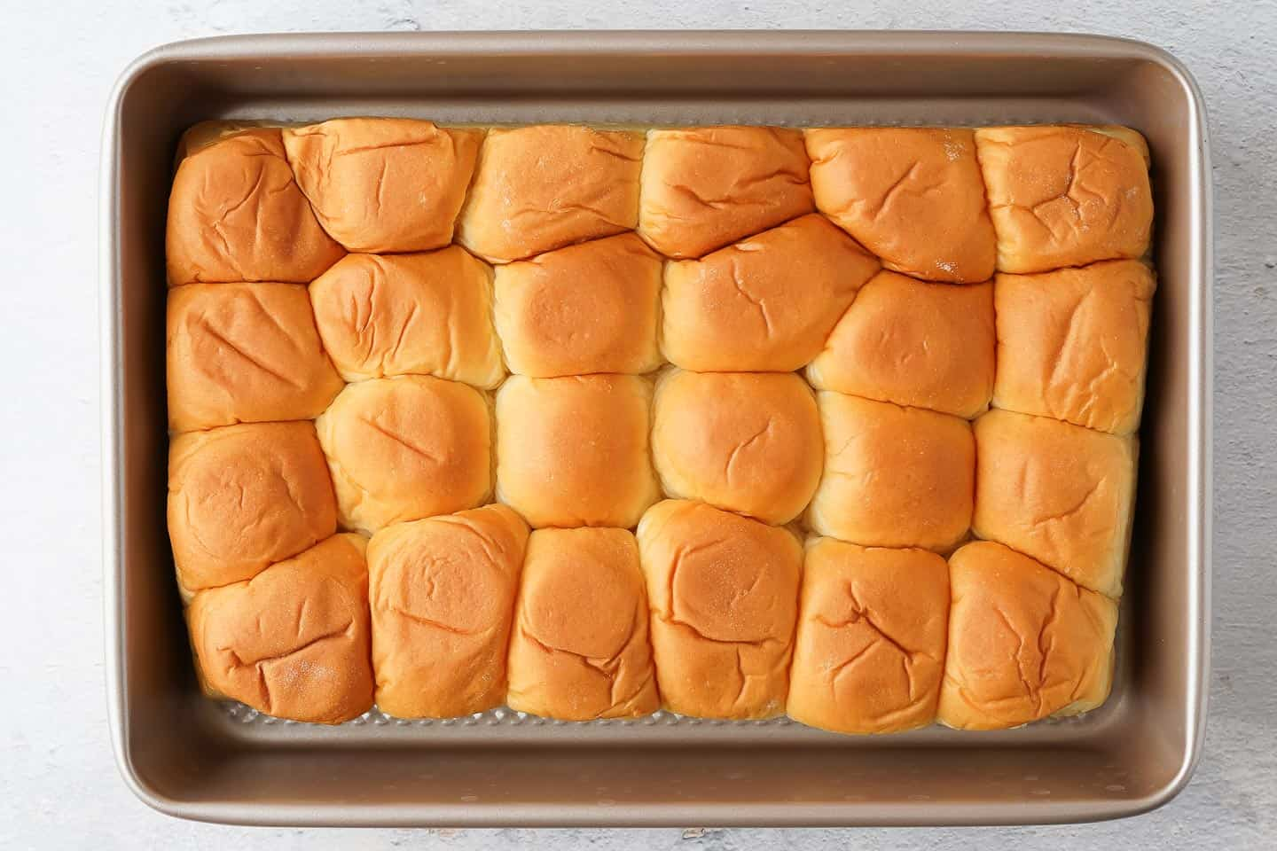 Party rolls in 9 x 13 inch baking tray