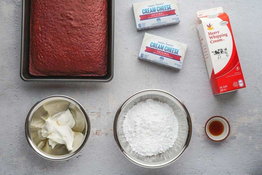 Red Velvet Cheesecake Trifle Ingredients