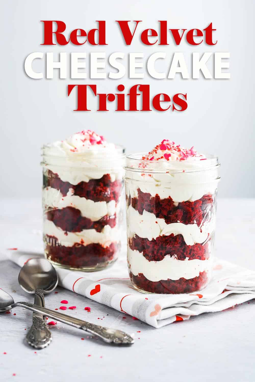 Red Velvet Cheesecake Trifles Pin