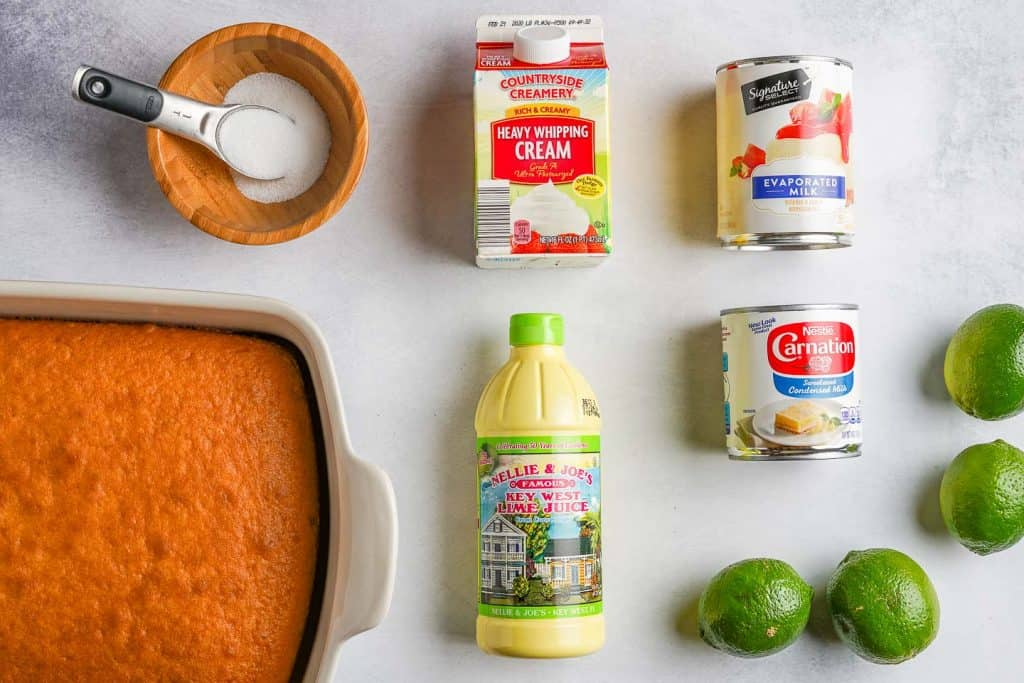 Key Lime Poke Cake Ingredients