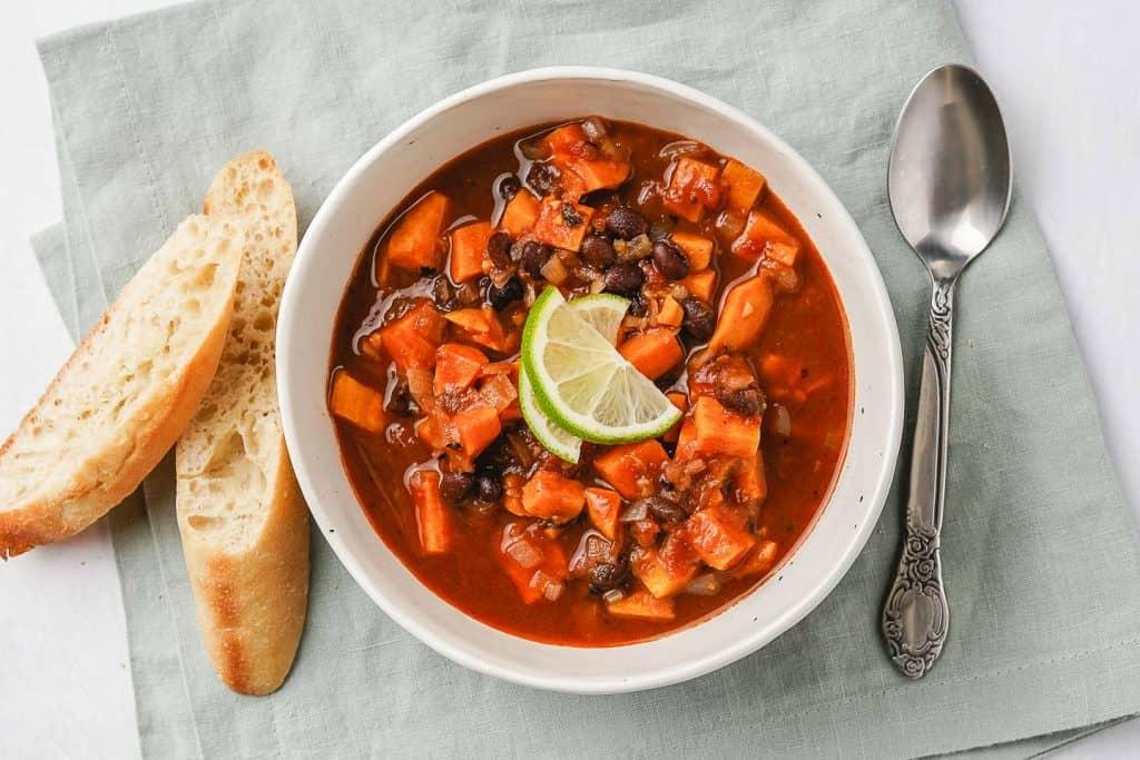 Sweet Potato Black Bean Soup Ready to Eat