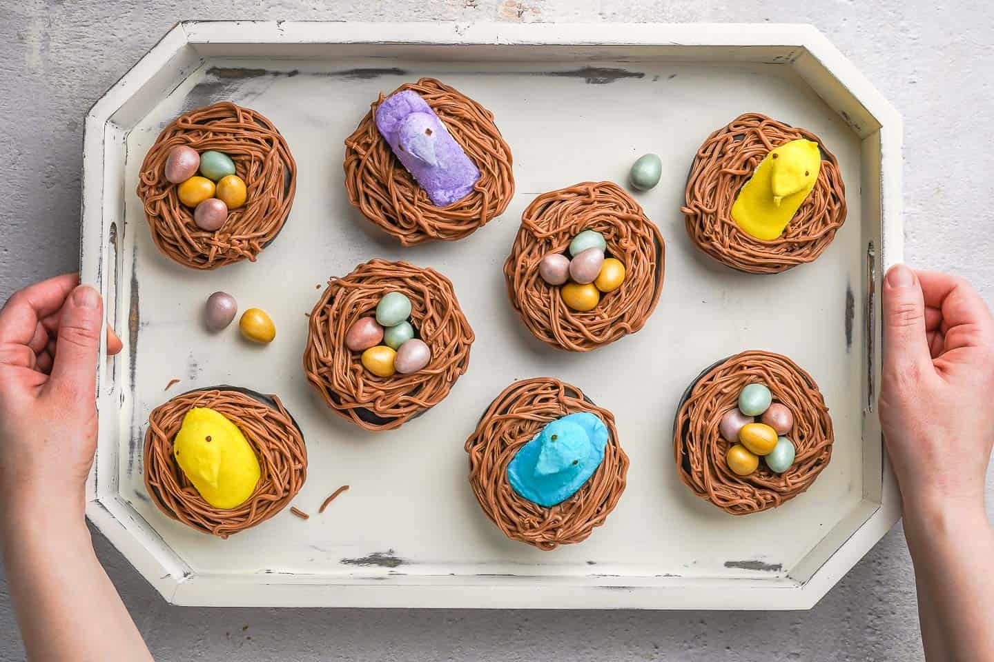 Easter Nest Donuts in Tray