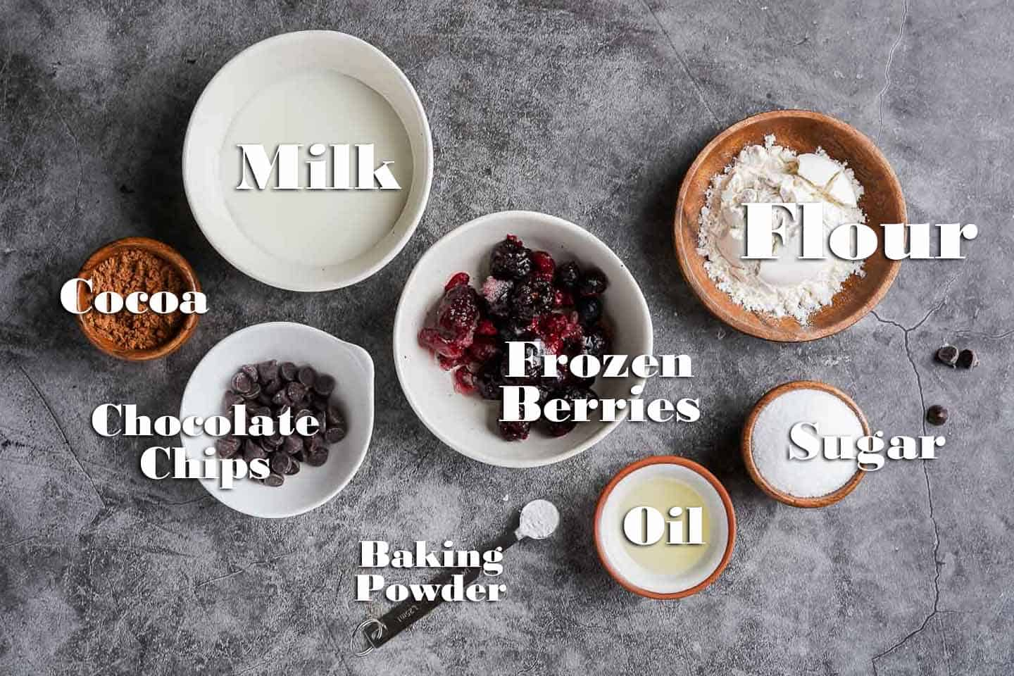 Chocolate Berry Mug Cake Ingredients