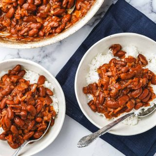 Quick Red Beans and Rice in Bowls