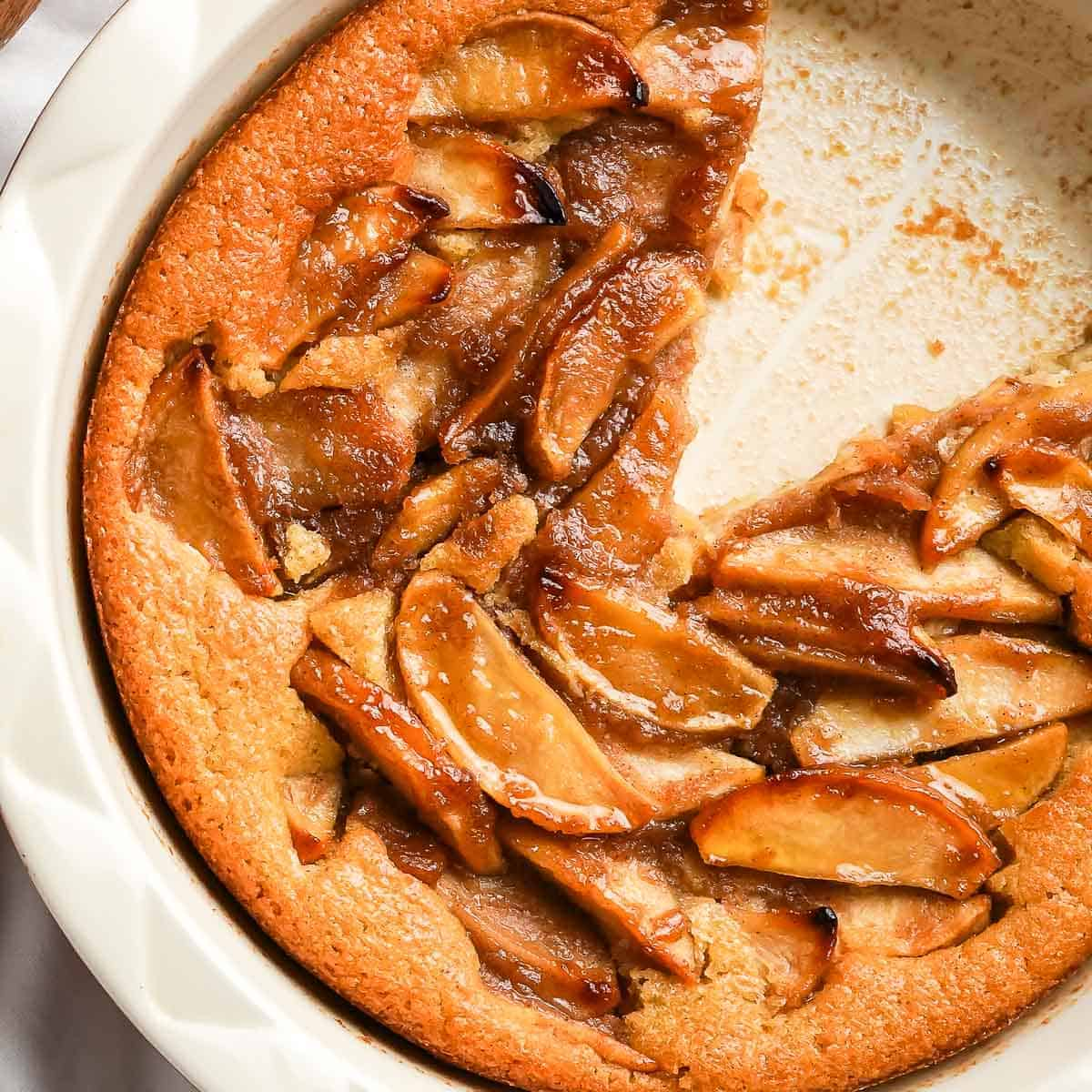 Crazy Crust Apple Pie Close Up in Pan