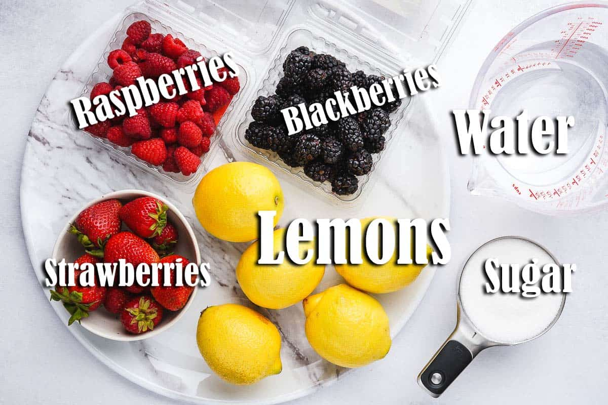 Berry Lemonade Ingredients