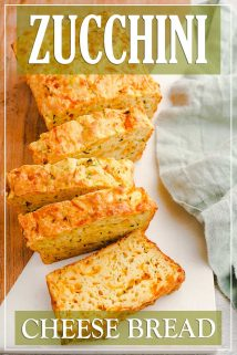 Zucchini Cheese Bread Slices on Board