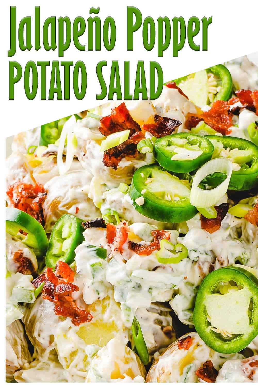 Close up of Jalapeno Popper Potato Salad