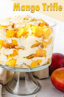 Mango Trifle with 2 Mangoes on the Side
