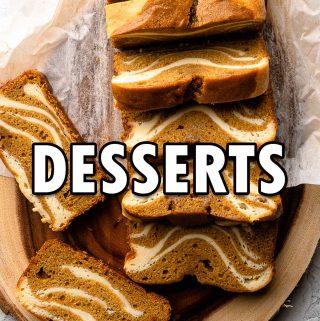 Desserts button