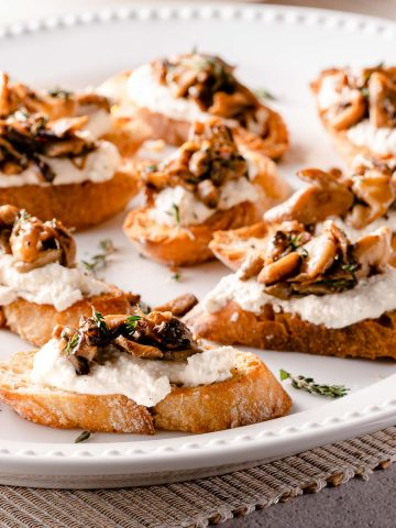 Ricotta Mushroom Crostini FI