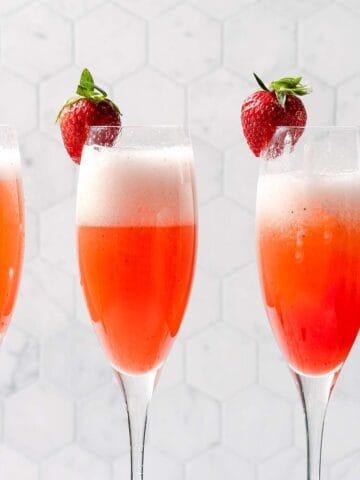 Three strawberry mimosas FI 2