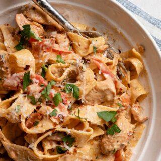 creamy cajun chicken pasta FI