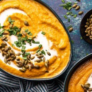 pumpkin sweet potato soup FI