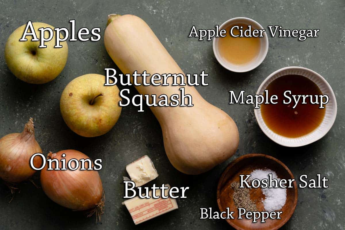 recipe ingredients with text labesl